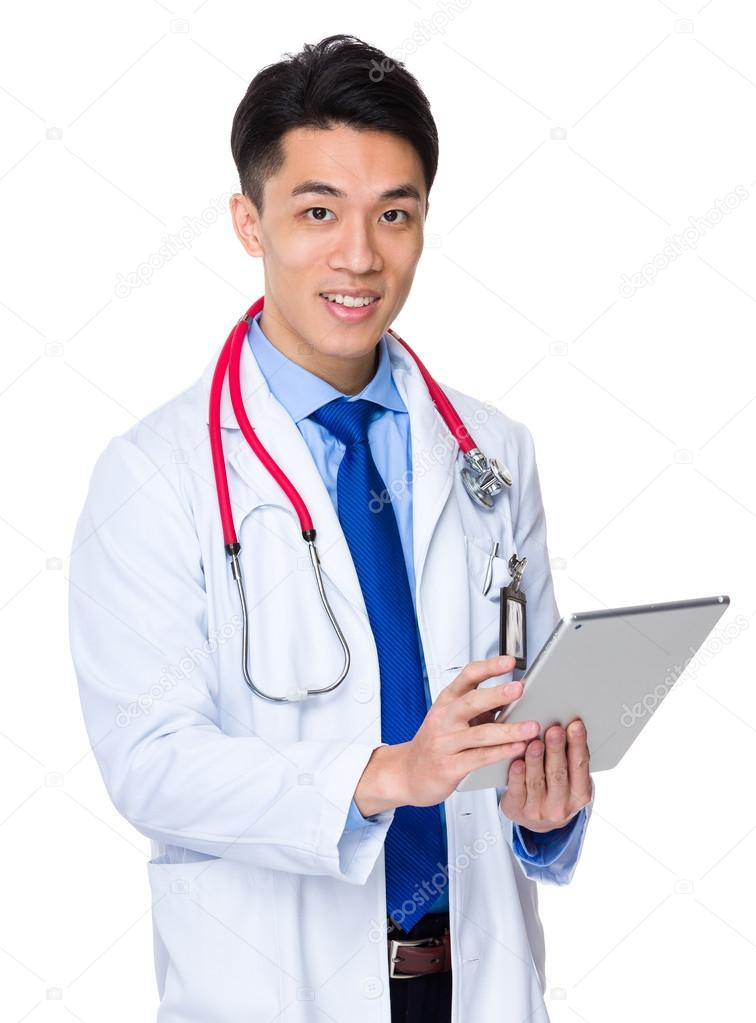 Asian male doctor business