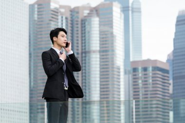 Asian handsome businessman in business suit
