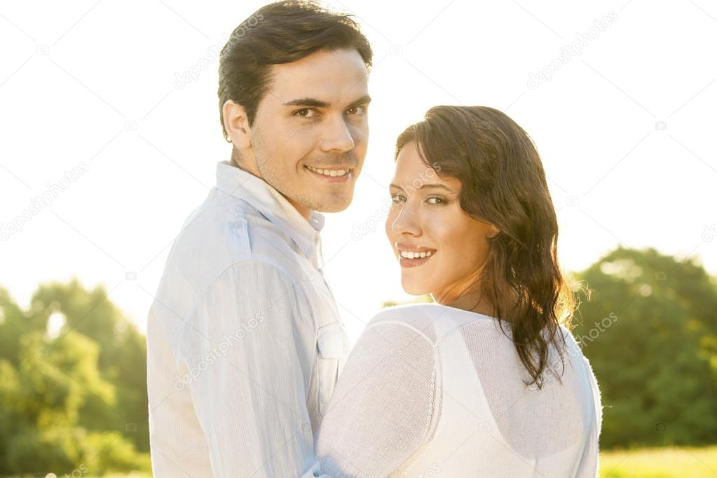 couple smiling together