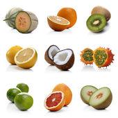 Exotic Fruits on white