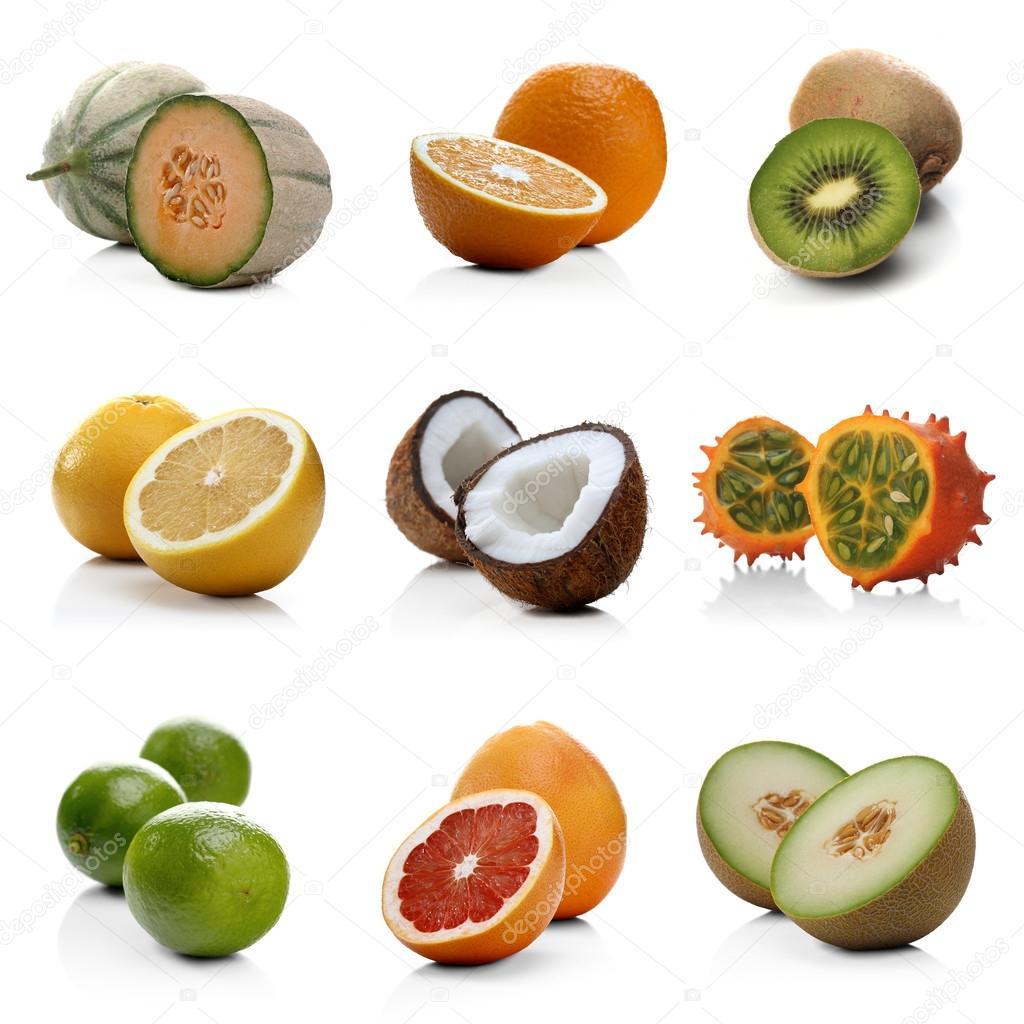 Frutas ex ticas en blanco fotos de stock londondeposit 69078037 - Frutas tropicales y exoticas ...