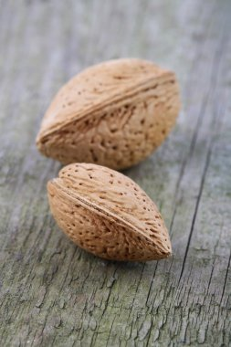 Almonds in Shell on table
