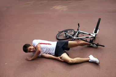 Man injured during riding a bike