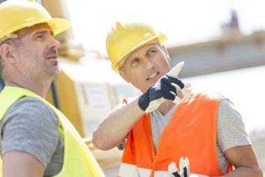 Supervisor showing something