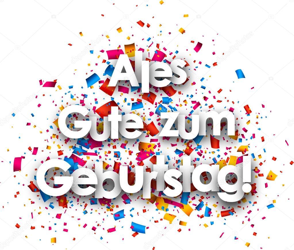 všechno nejlepší k narozeninám německy Všechno nejlepší k narozeninám papírový karton — Stock Vektor  všechno nejlepší k narozeninám německy