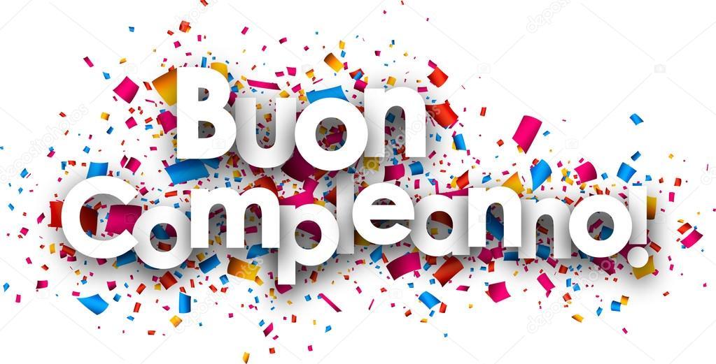 všechno nejlepší k narozeninám italsky Všechno nejlepší k narozeninám papírový karton — Stock Vektor  všechno nejlepší k narozeninám italsky