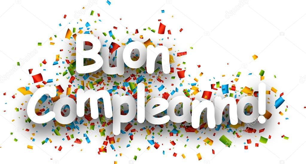 grattis på födelsedagen på italienska Grattis på födelsedagen papper banner — Stock Vektor © Maxborovkov  grattis på födelsedagen på italienska