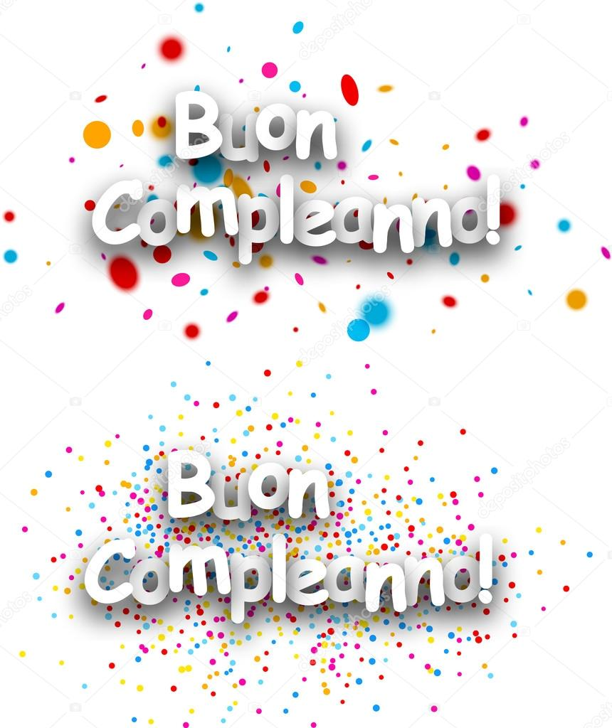 všechno nejlepší k narozeninám italsky Všechno nejlepší k narozeninám papíru bannery — Stock Vektor  všechno nejlepší k narozeninám italsky