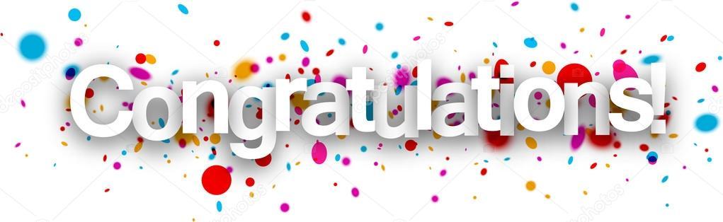 congratulations paper banner stock vector maxborovkov 108604562