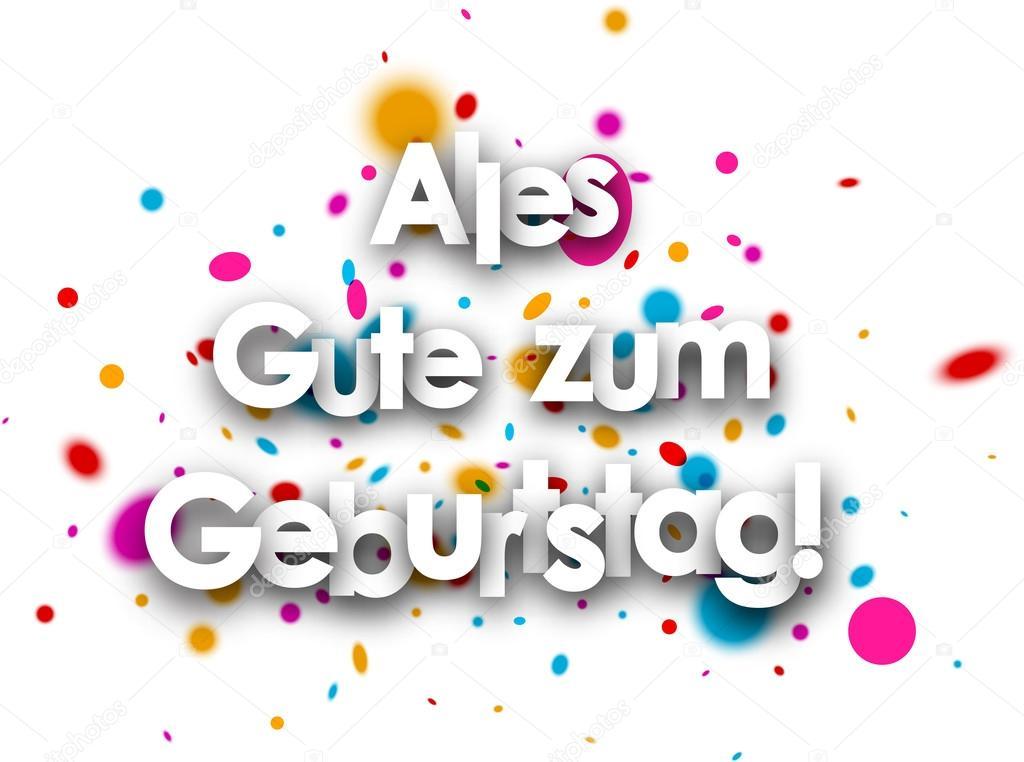 grattis på tyska Grattis på födelsedagen papperskort — Stock Vektor © Maxborovkov  grattis på tyska