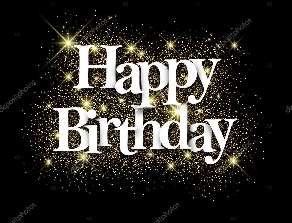 Happy birthday black background stock vector for Geburtstagsbilder 18