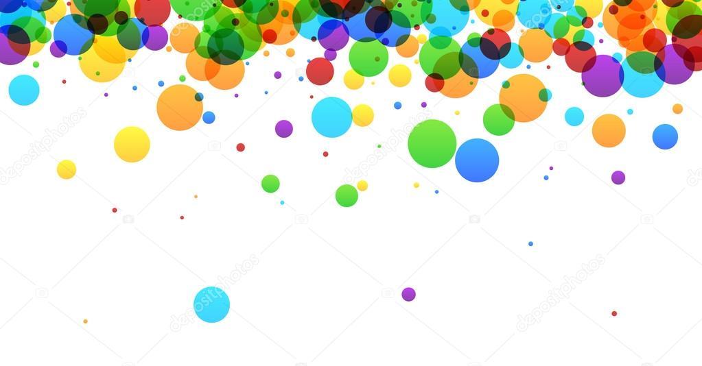 Fondo Con Burbujas De Color