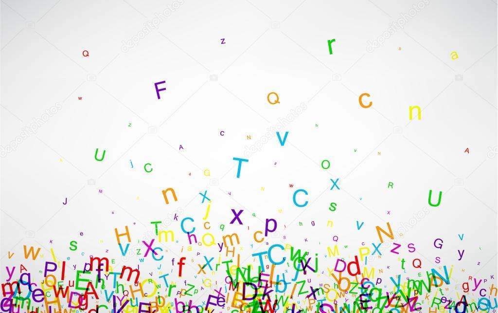 Hintergrund mit Farbe Buchstaben — Stockvektor © Maxborovkov #110203524