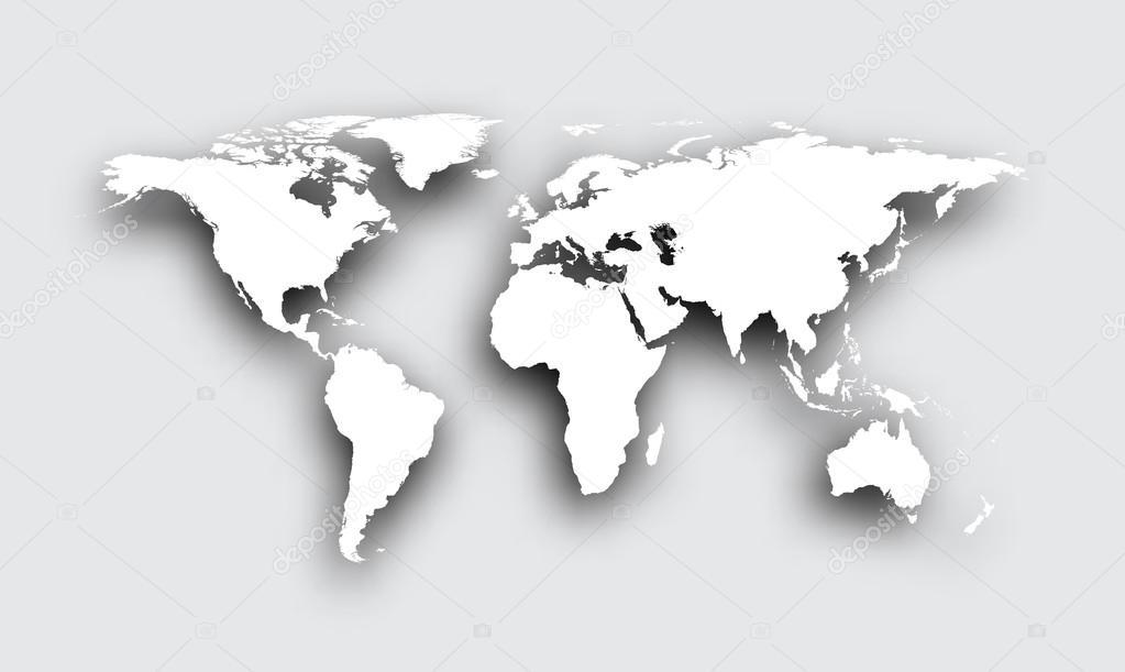 Gris mapa 3d del mundo vector de stock maxborovkov 114885088 gris mapa 3d del mundo vector de stock gumiabroncs Choice Image