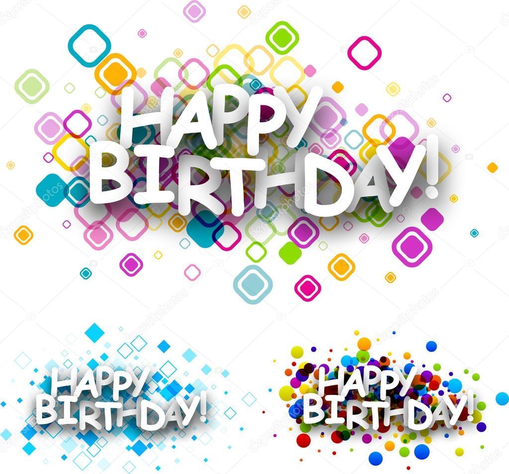 Fondos de color de feliz cumpleaños — Vector de stock © Maxborovkov ...