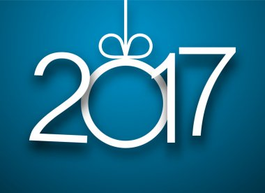2017 New Year blue background.