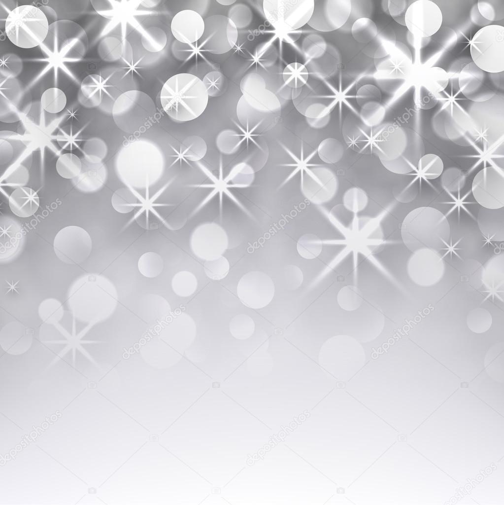 Sternenhimmel Hintergrund Weihnachten Silber — Stockvektor ...