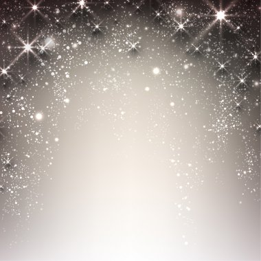 Shiny starry christmas background. Vector Illustration stock vector