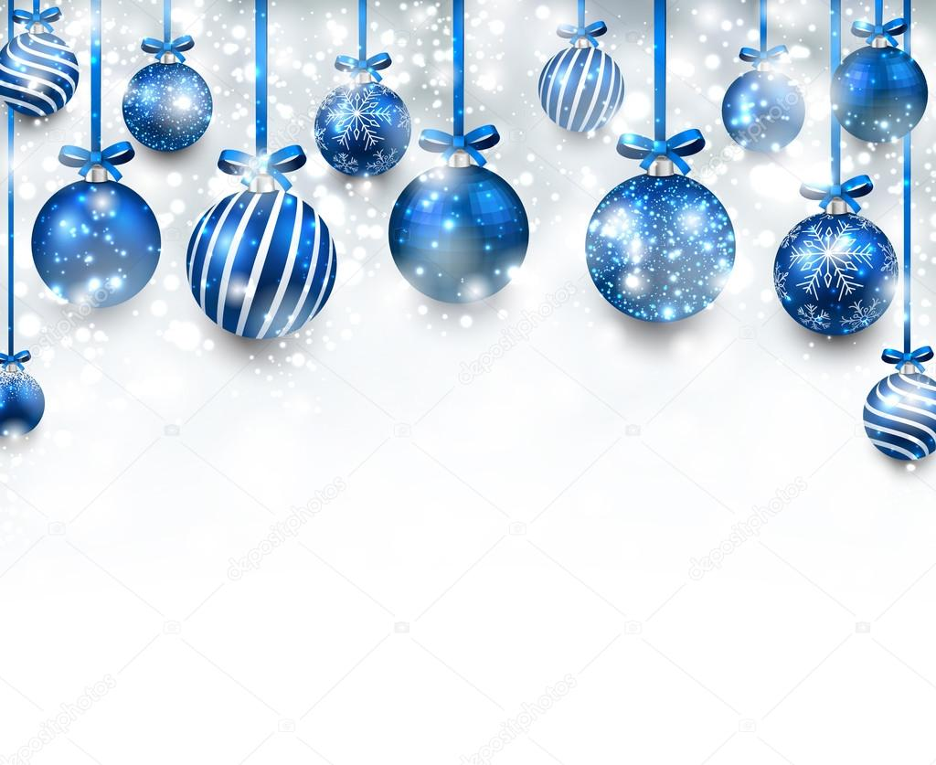Blue christmas background Stock Vectors
