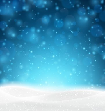 Christmas snowy background.