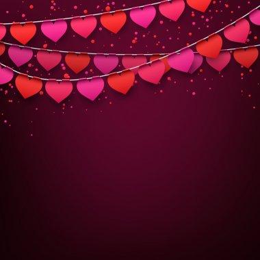 Love party celebration background.