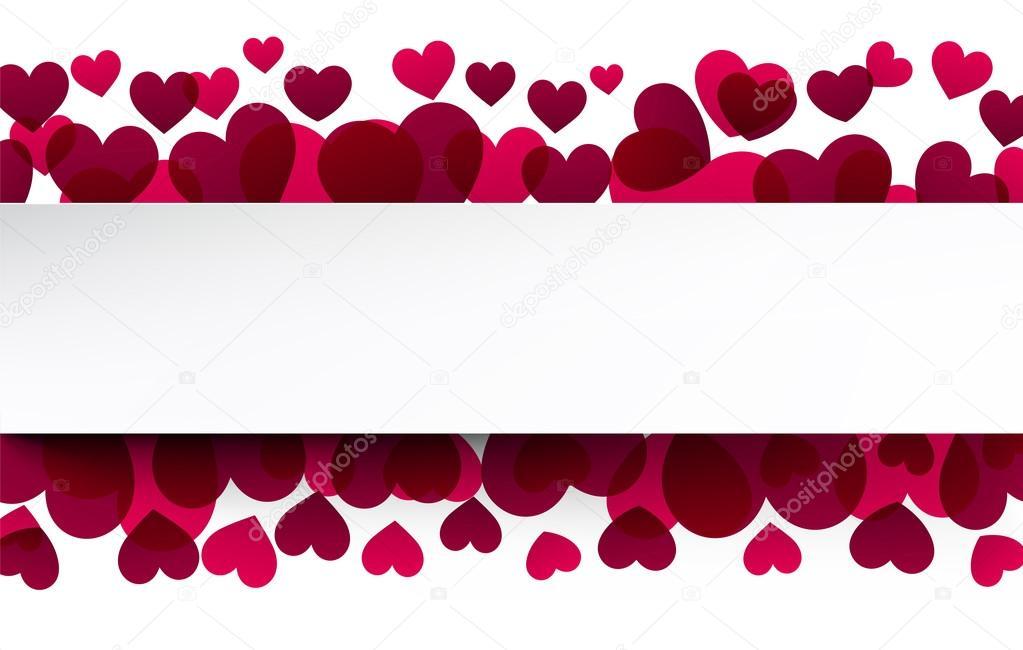 Fondo de San Valentín con corazones de color rosa — Vector de stock ...
