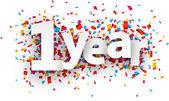 Jeden rok papírové konfety znamení