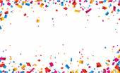 Konfety oslava rámečku pozadí
