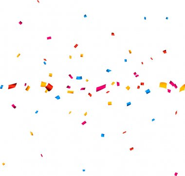 Confetti celebration banner