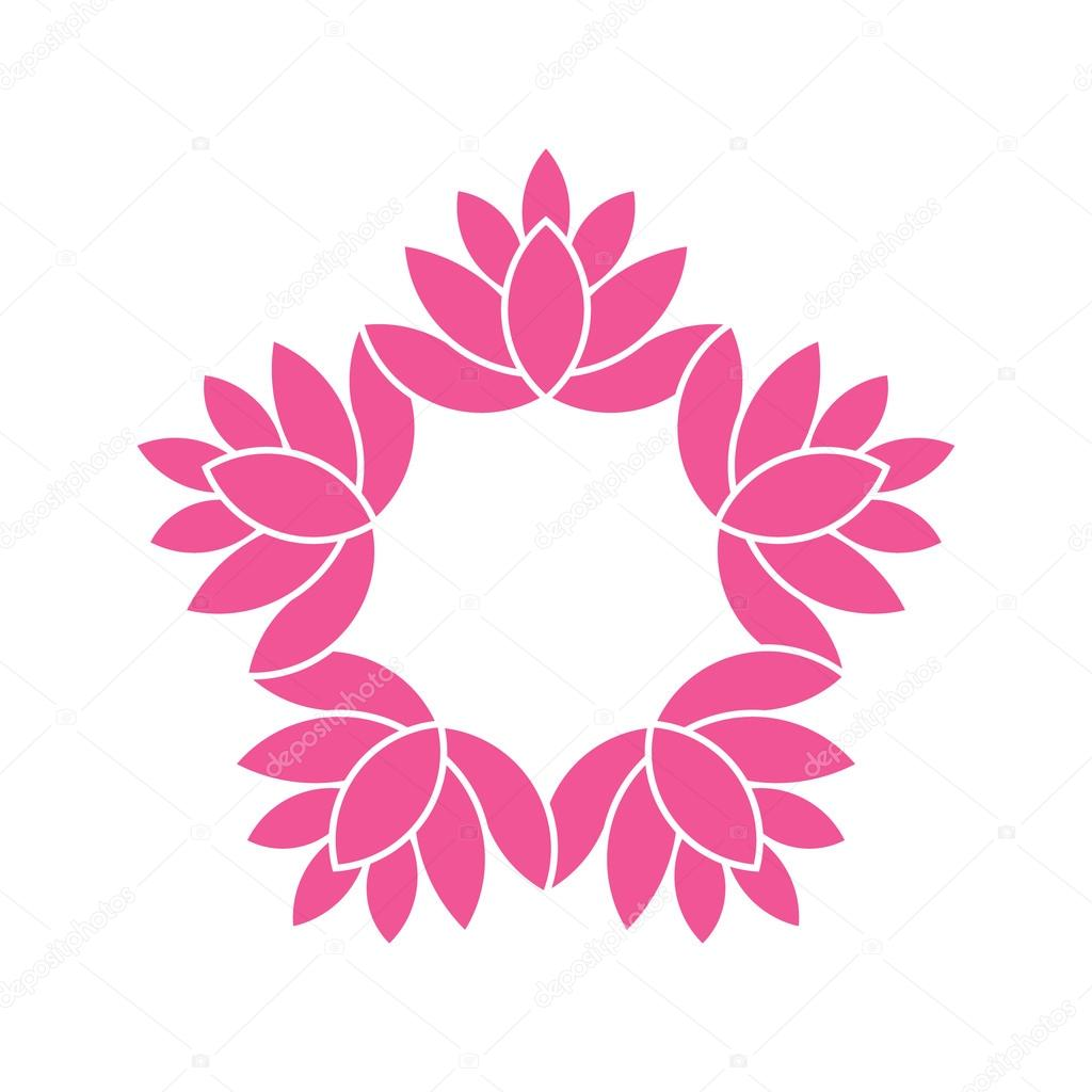 Lotus flower graphic design awesome graphic library lotus flowers circle watercolor style vector graphic design stock rh depositphotos com izmirmasajfo