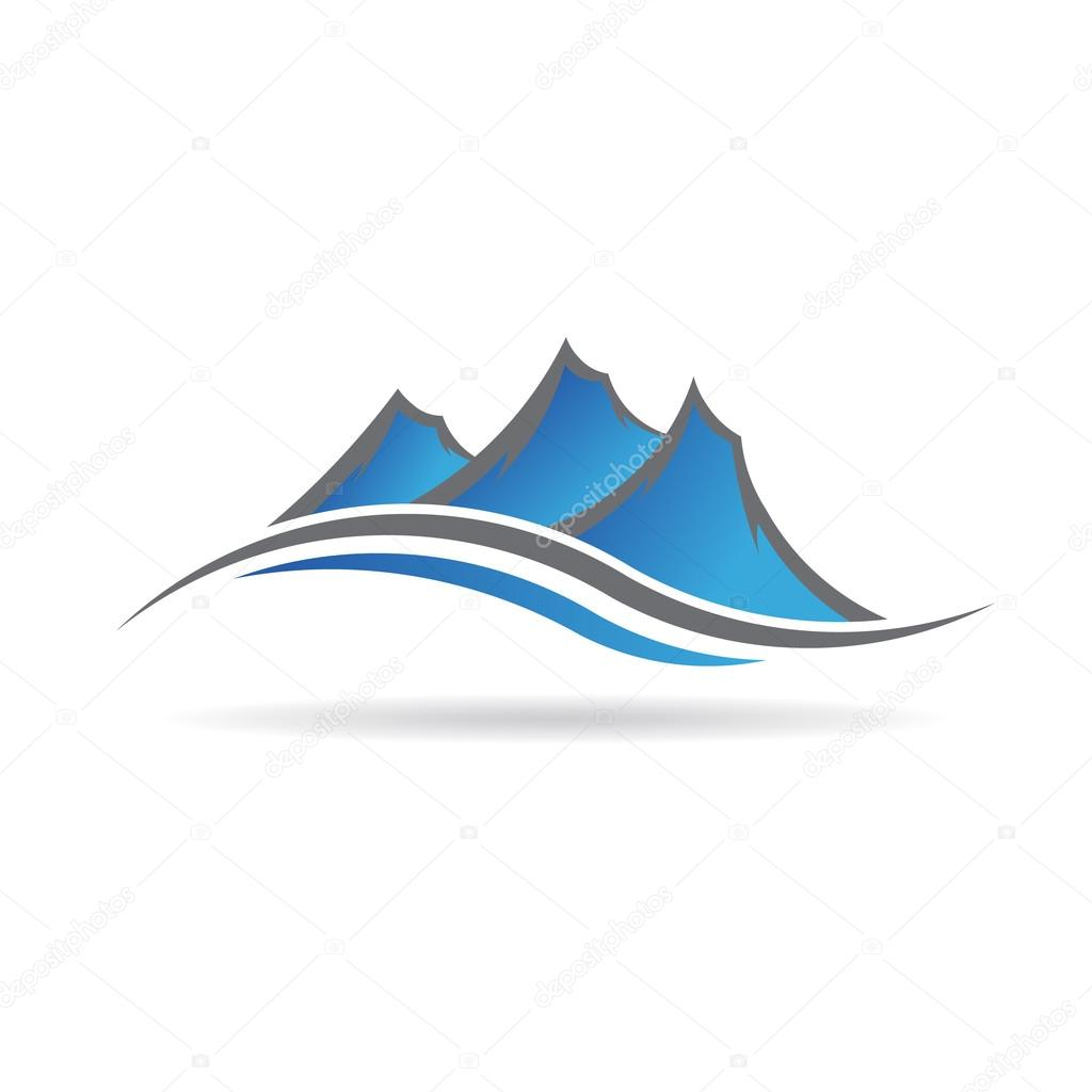 Mountains swoosh logo