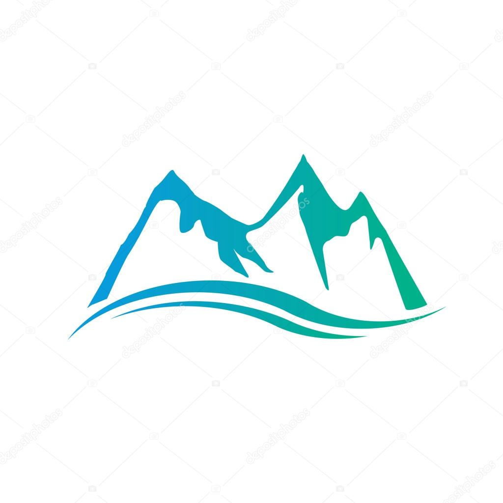mountains logo vector graphic design stock vector deskcube