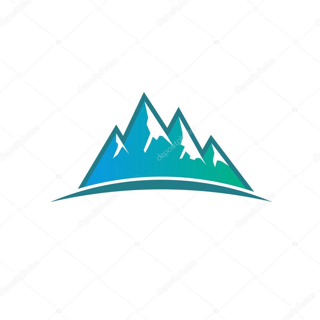 Mountains Adventure Logo. Vector graphic design