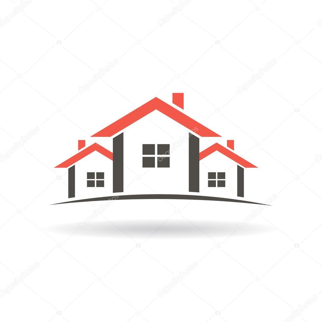 Makler Häuser Logo. Vektor-Grafik-design — Stockvektor © deskcube ...