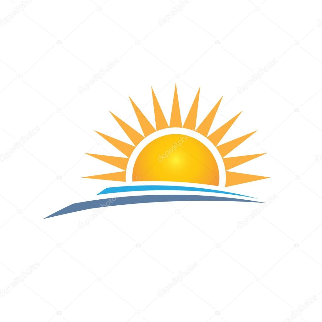 sunrise logo design vector graphic design � vetor de