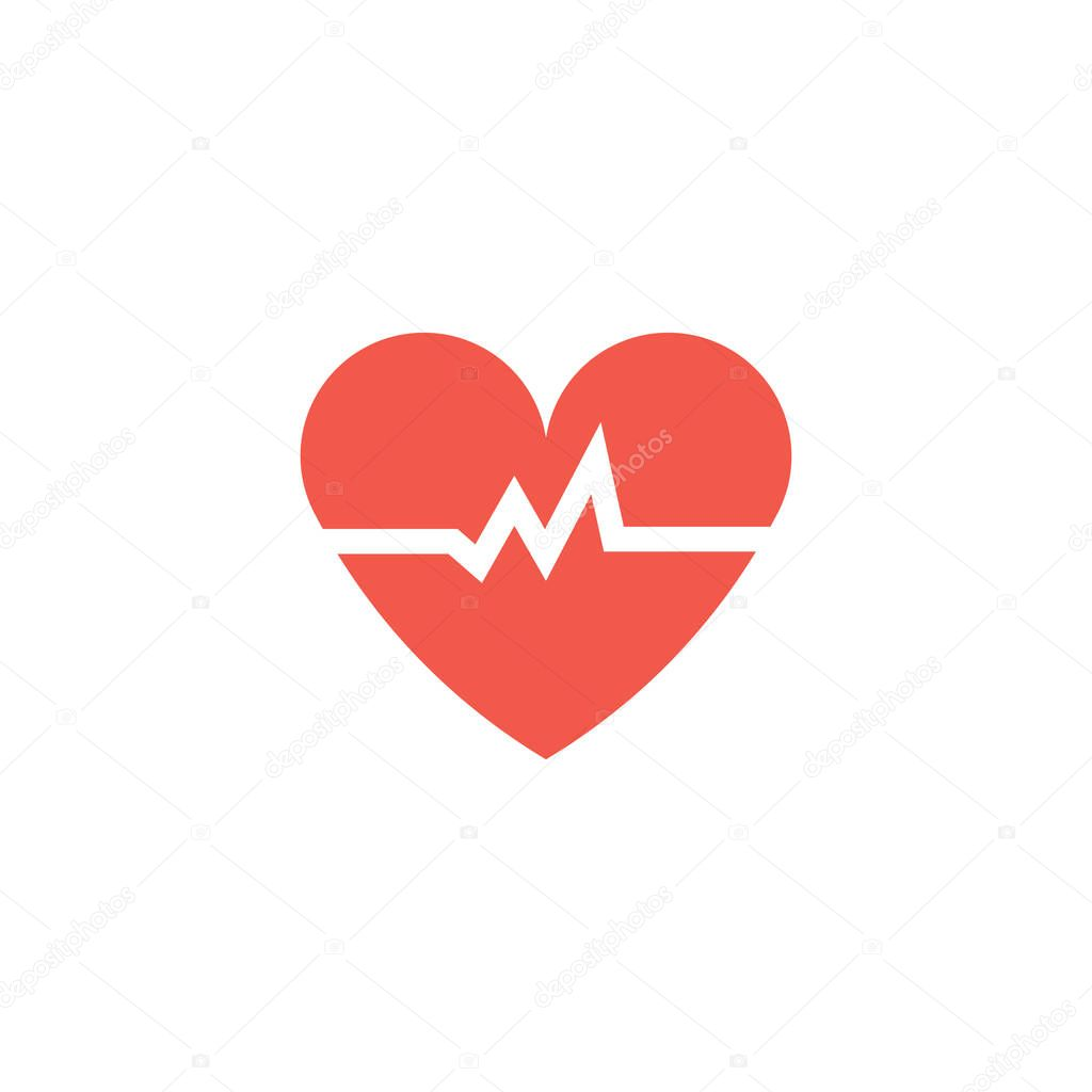 Read Heart beats signal vector design icon