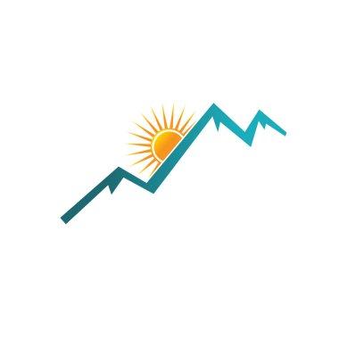 Mountains Peak and Sunset image logo