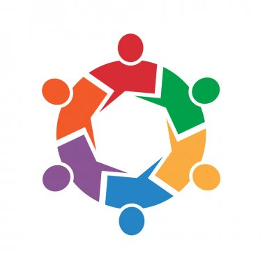 Call out 6 people circle logo
