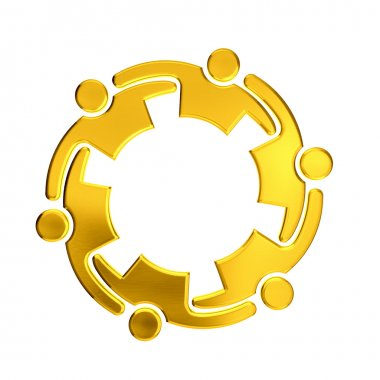 Golden Teamwork 6 circle embrace