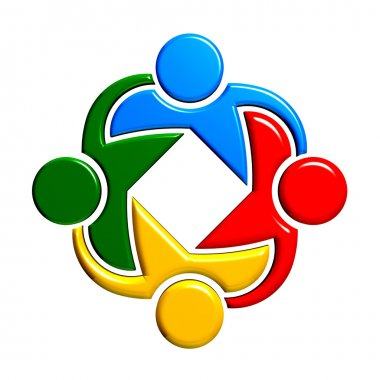 Group of people  holding each other. Teaming 4