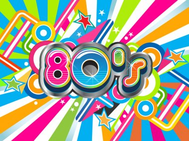 80s Party illustration logo