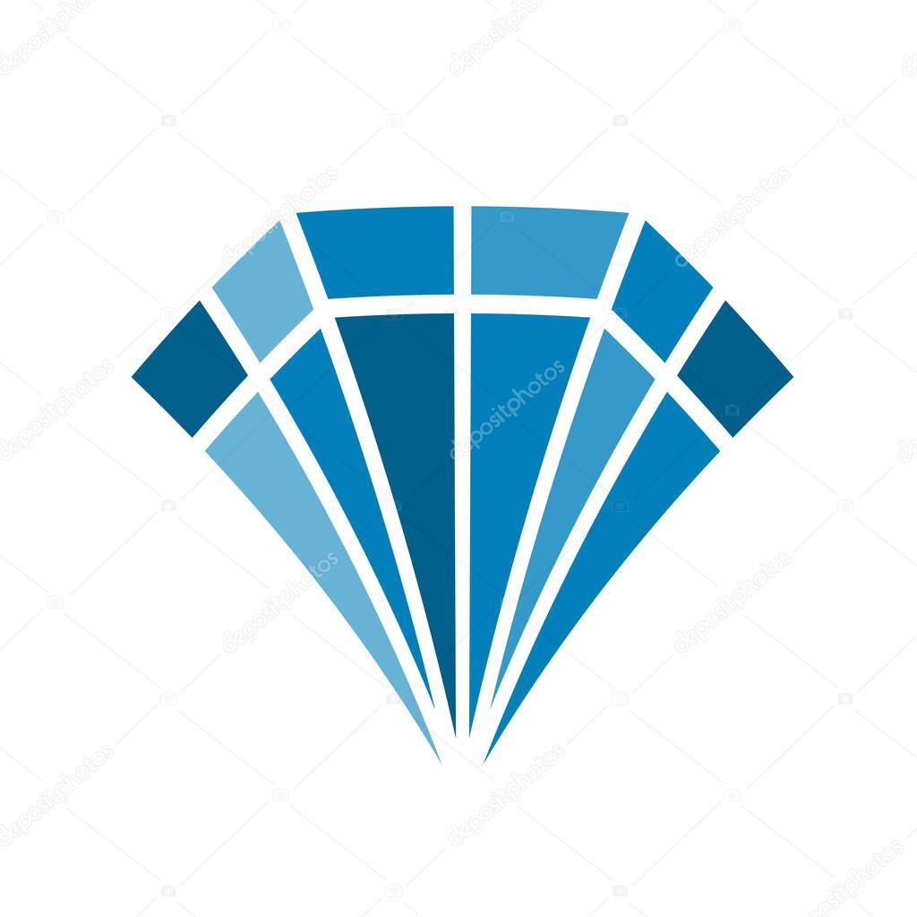 Logo design piatto di diamante colore vettoriali stock for Design piatto