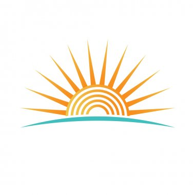 Sunshine with concentric circles logo