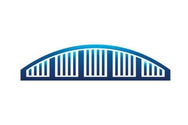 Blue Arc Bridge Icon