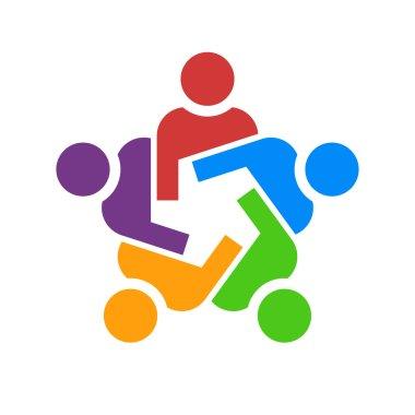 Teamwork group of people in meeting logo