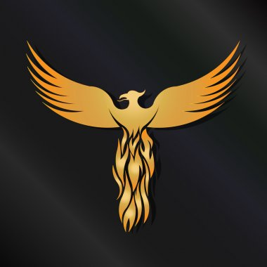 Golden Phoenix Bird logo