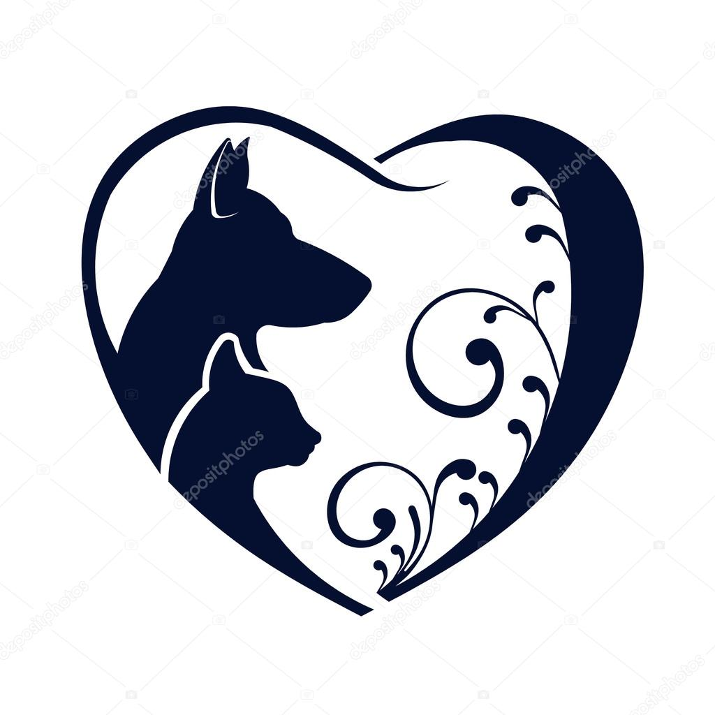 1886+ Dog Silhouettes Love Svg Best Quality File