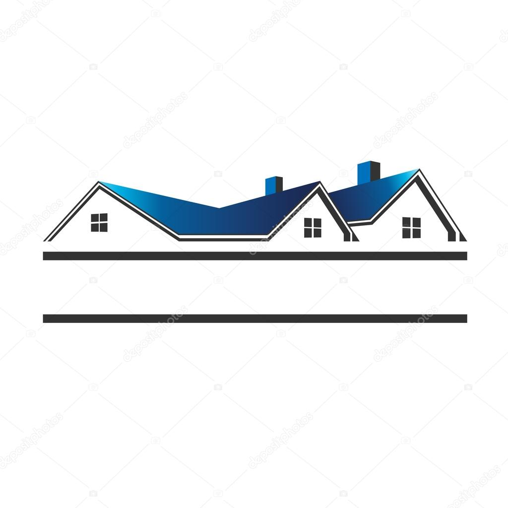 Free House Plan Techos De Casas Para Inmobiliarias Logotipo Vector De