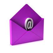 3D email sign in Pink envelope