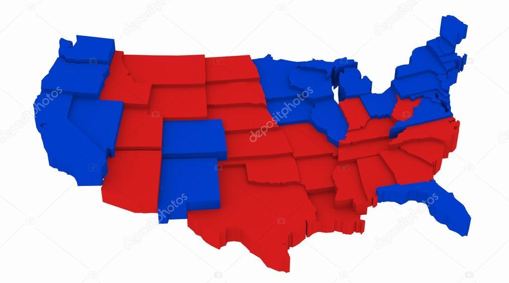 Karte Der Usa Presidential Wahlen 2012 Stockfoto C Deskcube
